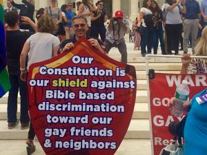 Our Constitution is our shield against bible based discrimination toward our gay friends & neighbors
